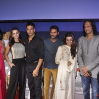 Team poses for the media at the Special Screening of Singh is Bling