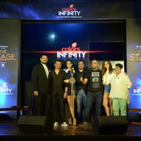 Ehsaan Noorani, Vishal D, Shibani Dandekar & Monica Dogra at Launch of Colors Infinity's 'The Stage'