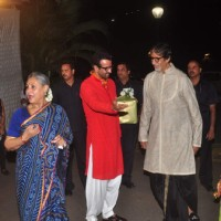 Amitabh and Jaya Bachchan at 'Mata Ki Chowki' Hosted By Ronit Roy on His Birthday