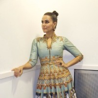 Neha Dhupia at a Fashion Week in London