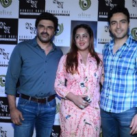 Ayaz Khan and Sameer Soni at Rouble Nagi's Art Exhibition