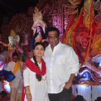 Sharbani Mukherjee and Anurag Basu at North Bombay Sarbojanin Durga Puja