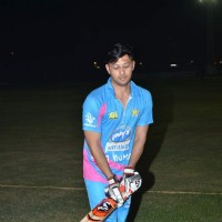 Vatsal Seth at Mumbai Heroes Corporate Cricket Match