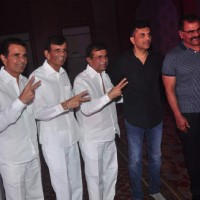 Abbas - Mustan - Hussain  Burmawalla Trio and Sharat Saxena at Success Bash of Pyaar Ka Punchnama 2