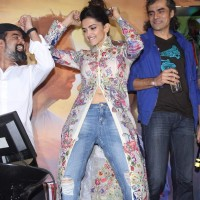 Deepika Padukone and Imtiaz Ali at Music Launch of Tamasha