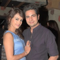 Nisha Rawal and Karan Mehra at Rohit Verma's Birthday Bash