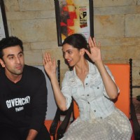 Ranbir Kapoor, Deepika Padukone and Imtiaz Ali at Promotions of Tamasha