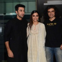 Imtiaz Ali, Ranbir Kapoor and Deepika Padukone at Team Tamasha's Dinner Party