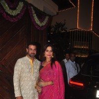 Ronit Roy and Neelam Singh at Big B's Diwali Bash