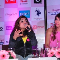 Malishka and Bipasha at Pinkathon Press Meet