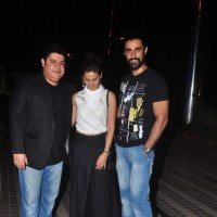 Sajid Khan and Kunal Kapoor at Sajid Khan's Birthday Bash