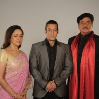 Salman Khan with Hema Malini and Shatrughan Sinha