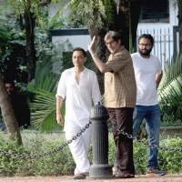 "Amitabh Bachchan shoots for Sujoy Ghosh's ""Te3n"" in Kolkata"
