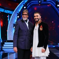 BigB and Ranveer Singh at 'Aaj Ki Raat Hai Zindagi' Show