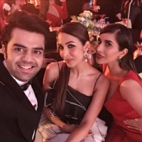 Sophie Choudry, Manish Paul and Malaika Arora at Filmfare Glamour and Style Awards