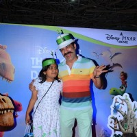 J D Majethia with his kids at Special Screening of 'The Good Dinosaur'