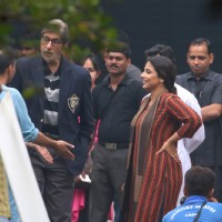 Amitabh Bachchan and Vidya Balan Shoots for Te3n