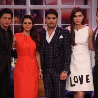 SRK, Kajol, Kriti and Varun on CNWK for promotions of 'Dilwale'