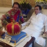 Saira Banu and Dilip Kumar during the Birthday Celebration
