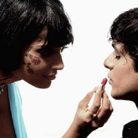 Bipasha Basu doing make-up of Maradona | Pankh Photo Gallery