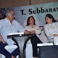 Boney Kapoor and Simi Garewal at Press Meet of Yash Chopra Memorial Award
