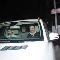 Rajkumar Hirani was snapped at Aamir Khan's Dinner party