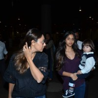 Gauri, Suhana and AbRam Khan Snapped at Airport