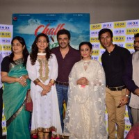 Juhi Chawla, Sameer Soni and Divya Dutta at Screening of 'Chalk N Duster'