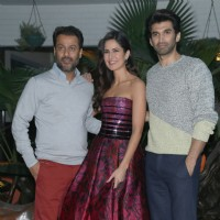Katrina kaif, Aditya Roy Kapur & Abhishek kapoor at Lodhi Gardens for Promotions of Fitoor in Delhi