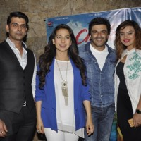 Aashka Goradia, Rohit Bakshi, Sameer Soni and Juhi Chawla at Screening of 'Chalk N Duster'