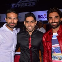 Raman Handa and Rohit Khurana at Launch of BCL's Ahmedabad Express Team