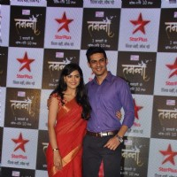 Anuja Sathe and Vishal Gandhi at Launch of Star Plus New TV show 'Tamanna'