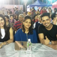 Kunwar Amarjeet Singh and Sonalli Seygall at Dog Show