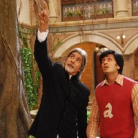 A still of Amitabh Bachchan and Ritesh Deshmukh