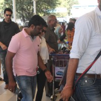 Asin and Rahul Sharma Snapped at Airport