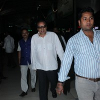 Dharmendra Snapped at Airport
