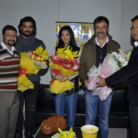 Aamir Khan at Pre Release Screening of 'Saala Khadoos' with Raju Hirani, Madhavan and Ritika