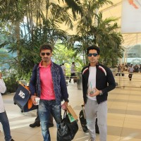 Rahul Dev and Arjan Bajwa Snapped at Airport