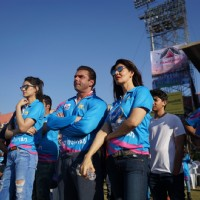 Sohail Khan, Kriti Sanon and Sangeeta Bijlani Snapped at CCL Match