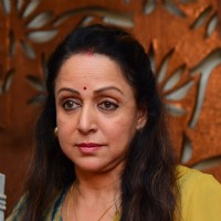 Press Meet of Hema Malini for Plot Allotment Issue