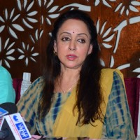 Hema Malini Takes a Press Conference for Plot Allotment Issue