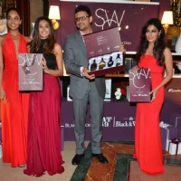 Beauties Shibani Dandekar, Lisa Haydon and Chitrangada Singh  at SWC 'Black Dog - Vat 69' Meet