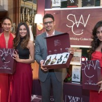 Shaibani Dandekar, Chitrangda Singh and Lisa Haydon at SWC 'Black Dog - Vat 69' Meet