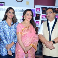 Meghna Ghai, Hema Malini and Subhash Ghai at Whistling Woods