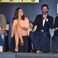Shahid Kapoor, Anil Kapoor, Kriti Sanon and Sonakshi Sinha at Press Meet of Zee Cine Awards