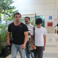 Sohail Khan Snapped with Son at Airport