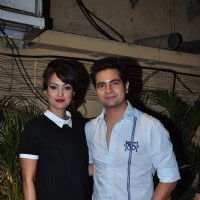 Karan Mehra and Nisha Rawal at Meet Bros Success Bash