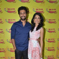 Sarah Jane Dias and Vicky Kaushal for Promotions of Film 'Zubaan' at Radio Mirchi