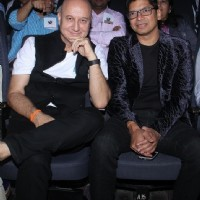 Anupam Kher and Shaan at a Charity Event