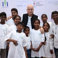 Anupam Kher at a Charity Event